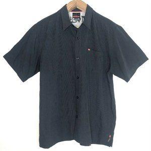 Quicksilver Button Front Shirt Short Sleeve XL